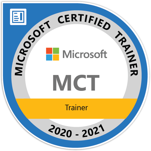 Microsoft Certified Trainer 2020-2021