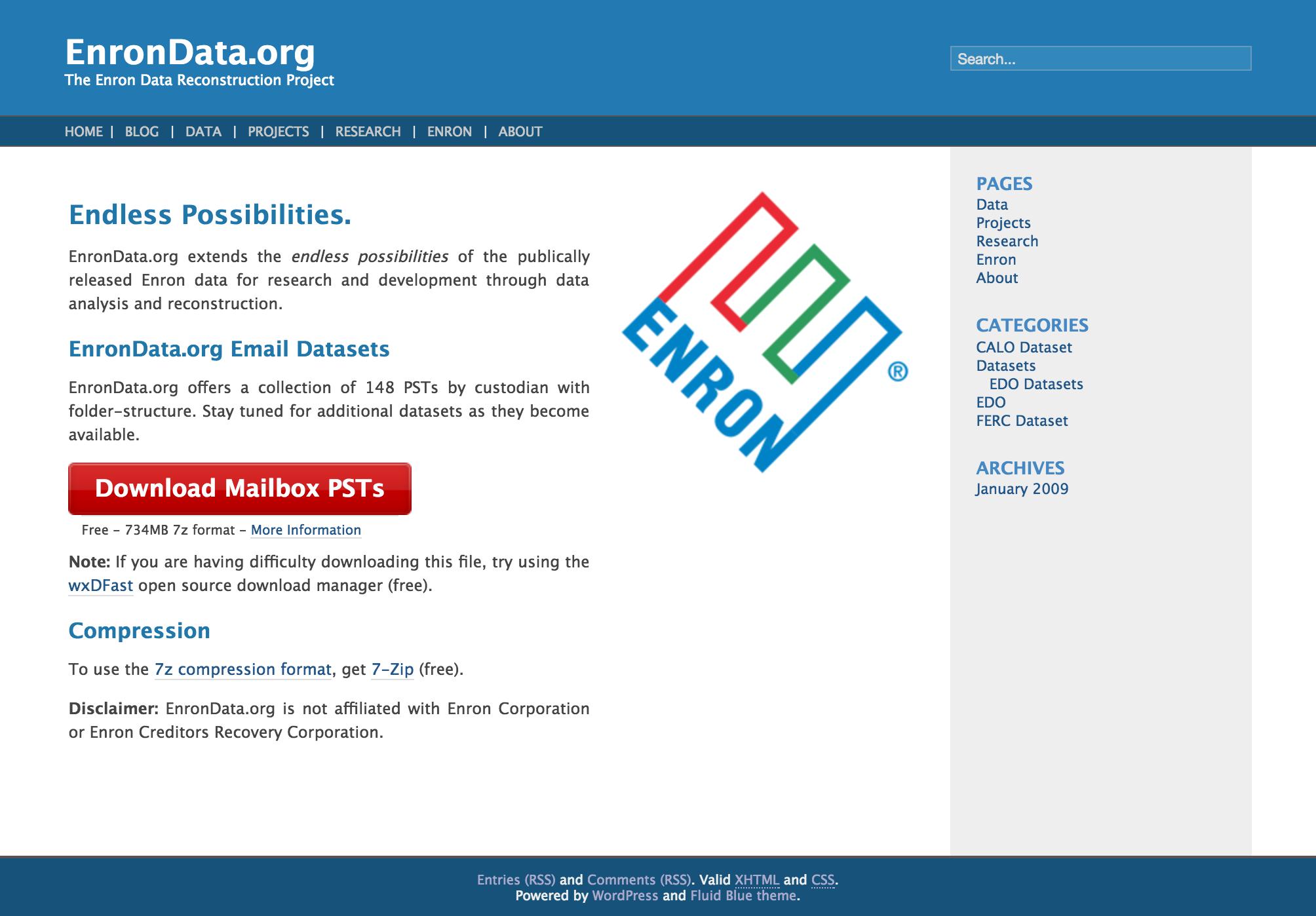 EnronData.org v1