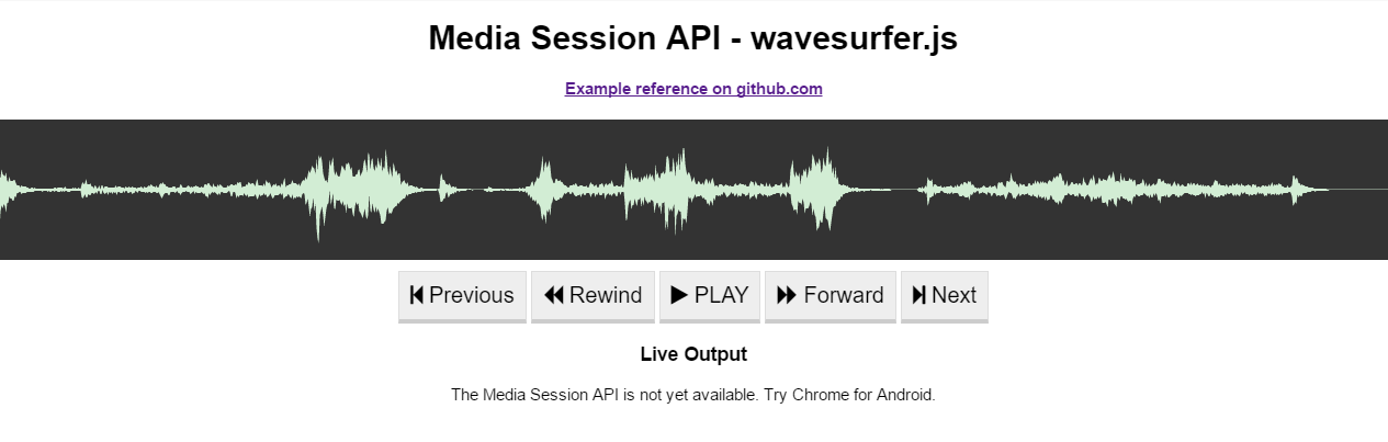 Media Session API - sample preview