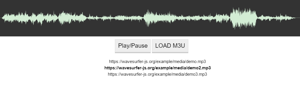 javascript playlist parser for m3u pls smil and json files