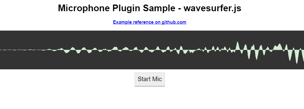 WaveSurfer.js microphone plugin sample
