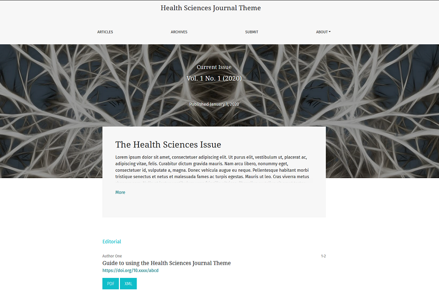 Health Sciences Journal - Hugo Theme