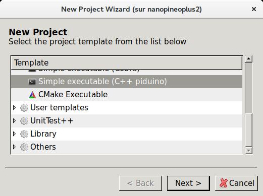Modèle de projet Codelite pour piduino