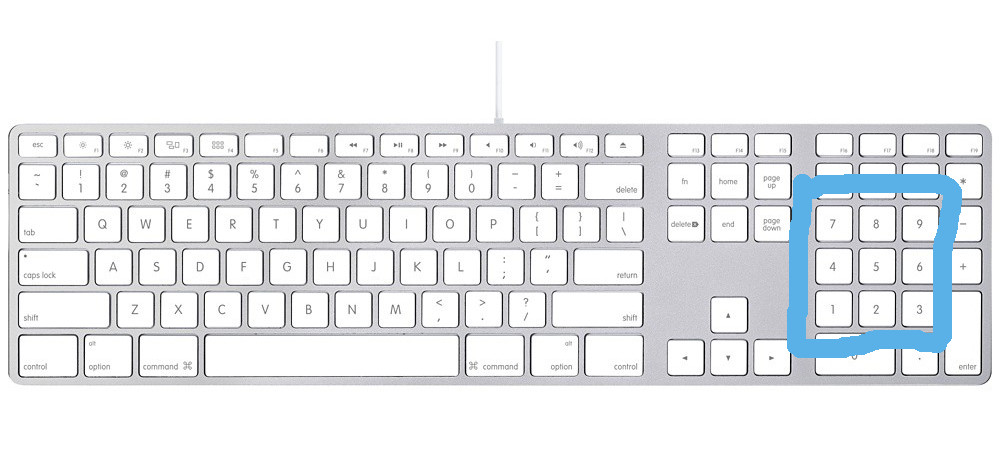 workspaces - side numeric keyboard layout visualized workspace flow