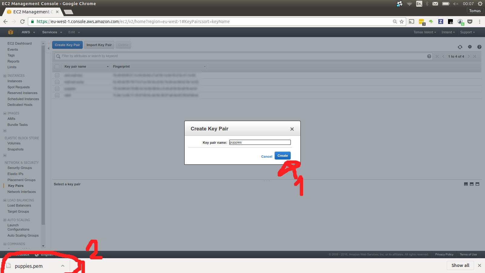 Generate ssh key via Key Pair tool 3