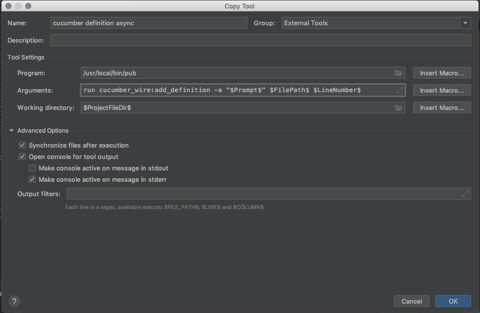 settings tool async