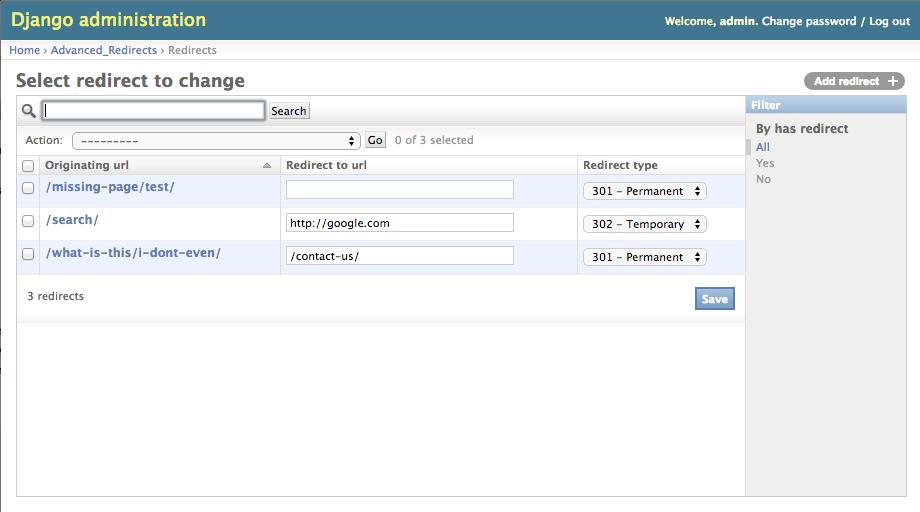 GitHub - eressler/django-advanced-redirects: Provides more