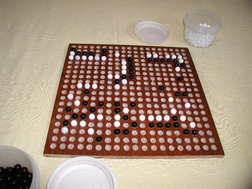 19x19 game on a marble go board