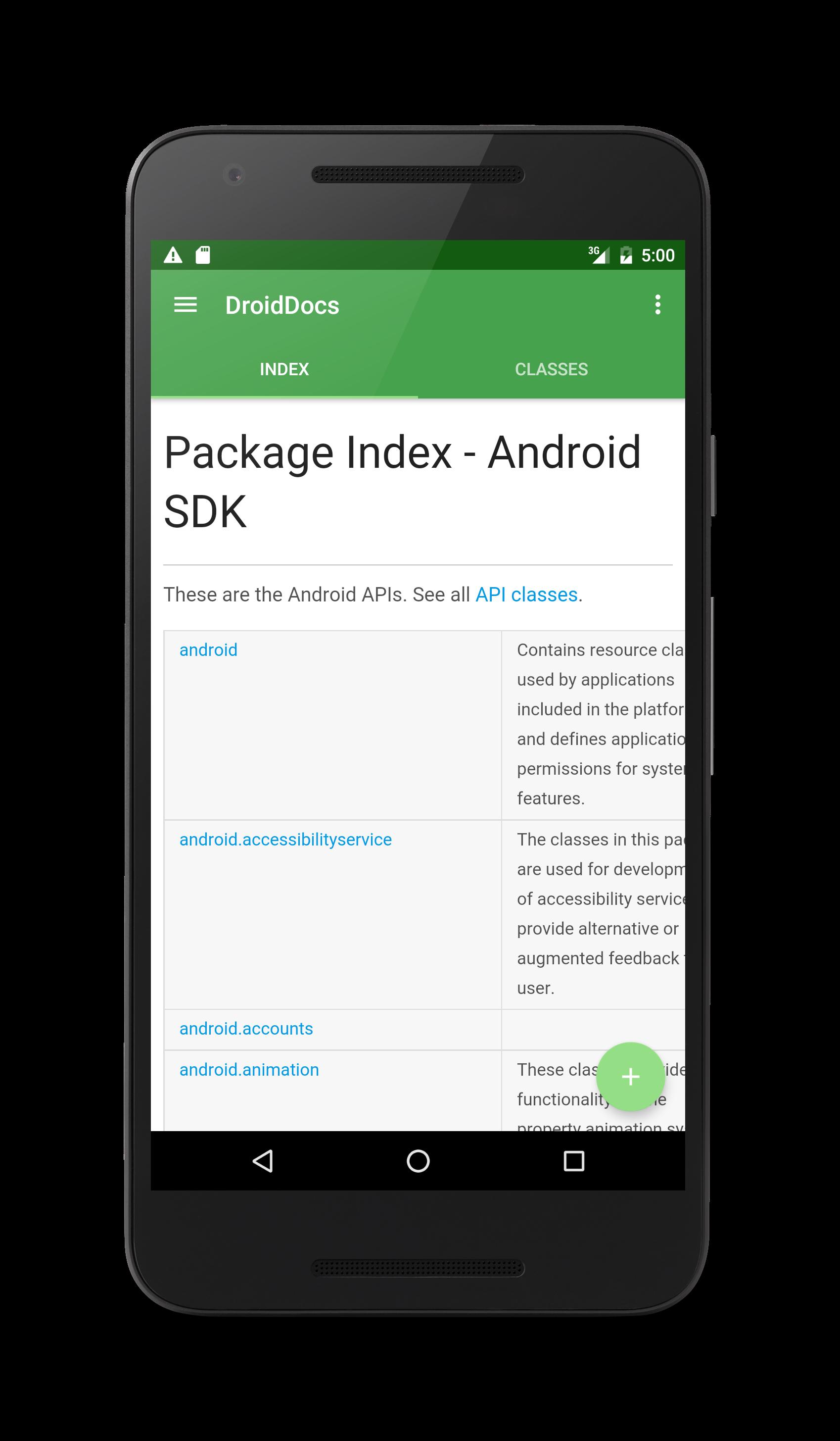 app index tab screenshot