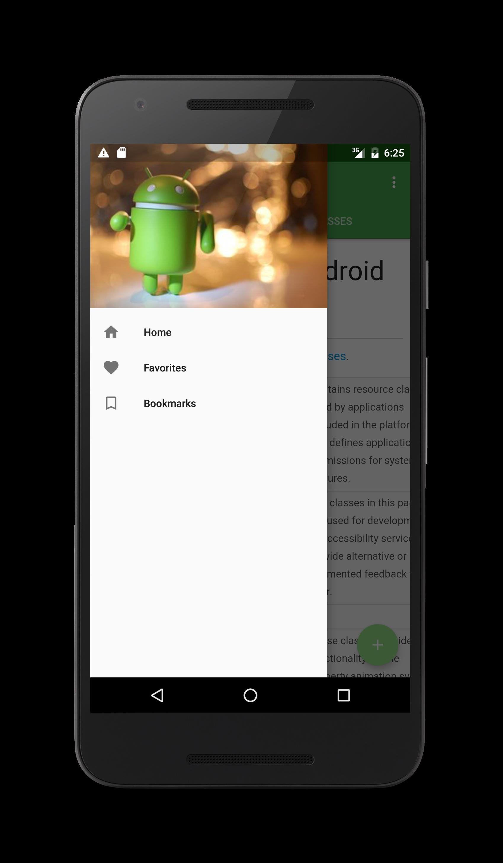 app menu screenshot