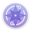 Lectrote logo: purple compass