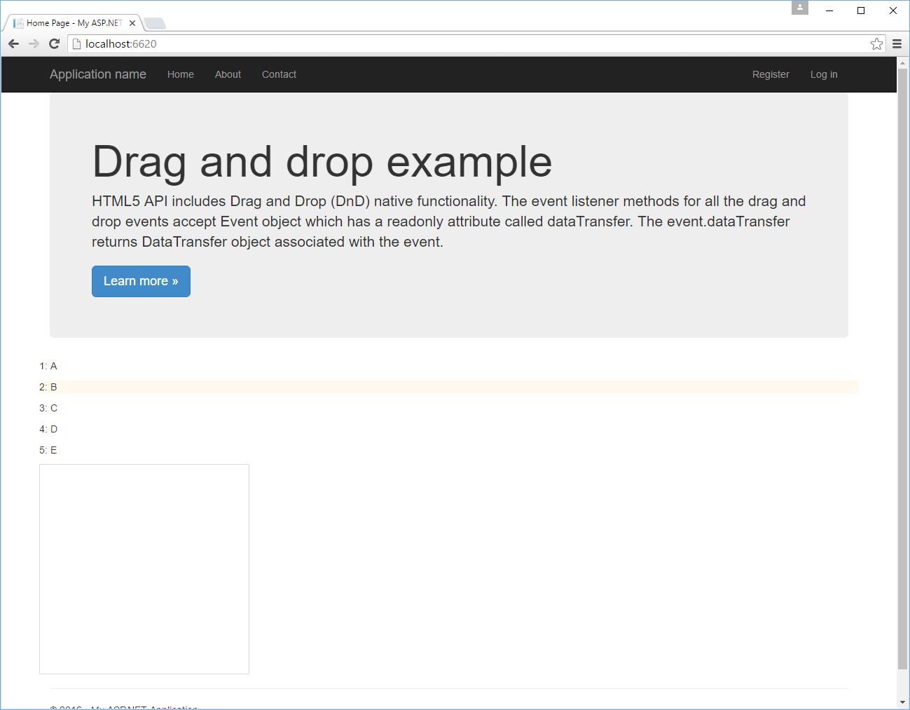 HTML5DragAndDrop