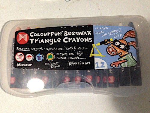 The original crayon case from which the Crayonboard was made