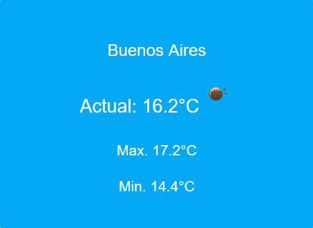 Imagen de la app del clima