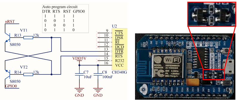 Implementation of noodemcu reset