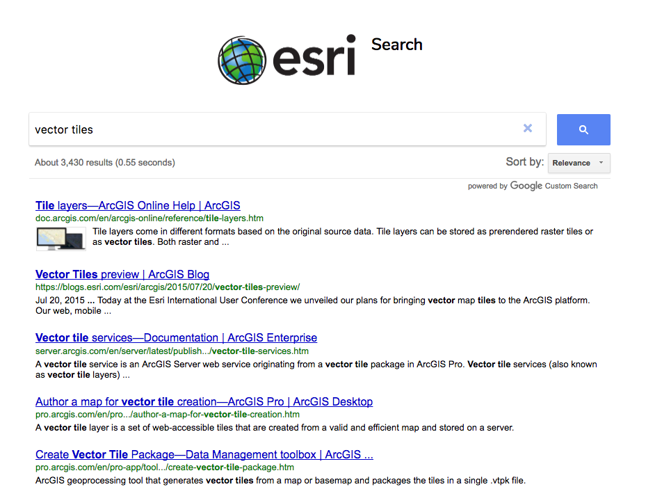 GitHub - esri-es/arcgis-search: Save time searching in more