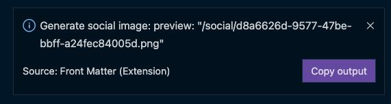 Custom action notification