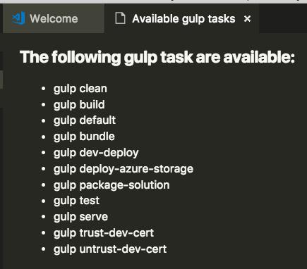 Gulp tasks