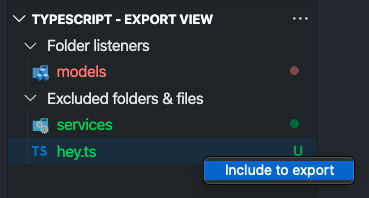 Include to export