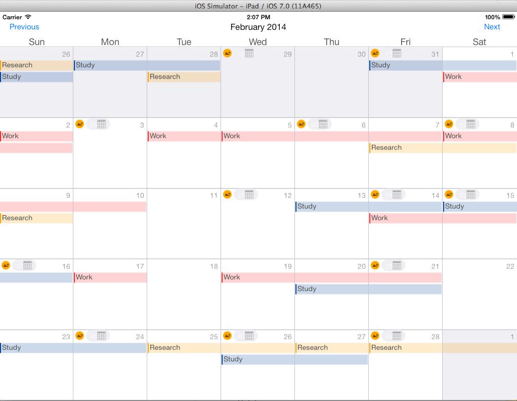 Calendar Ipad view