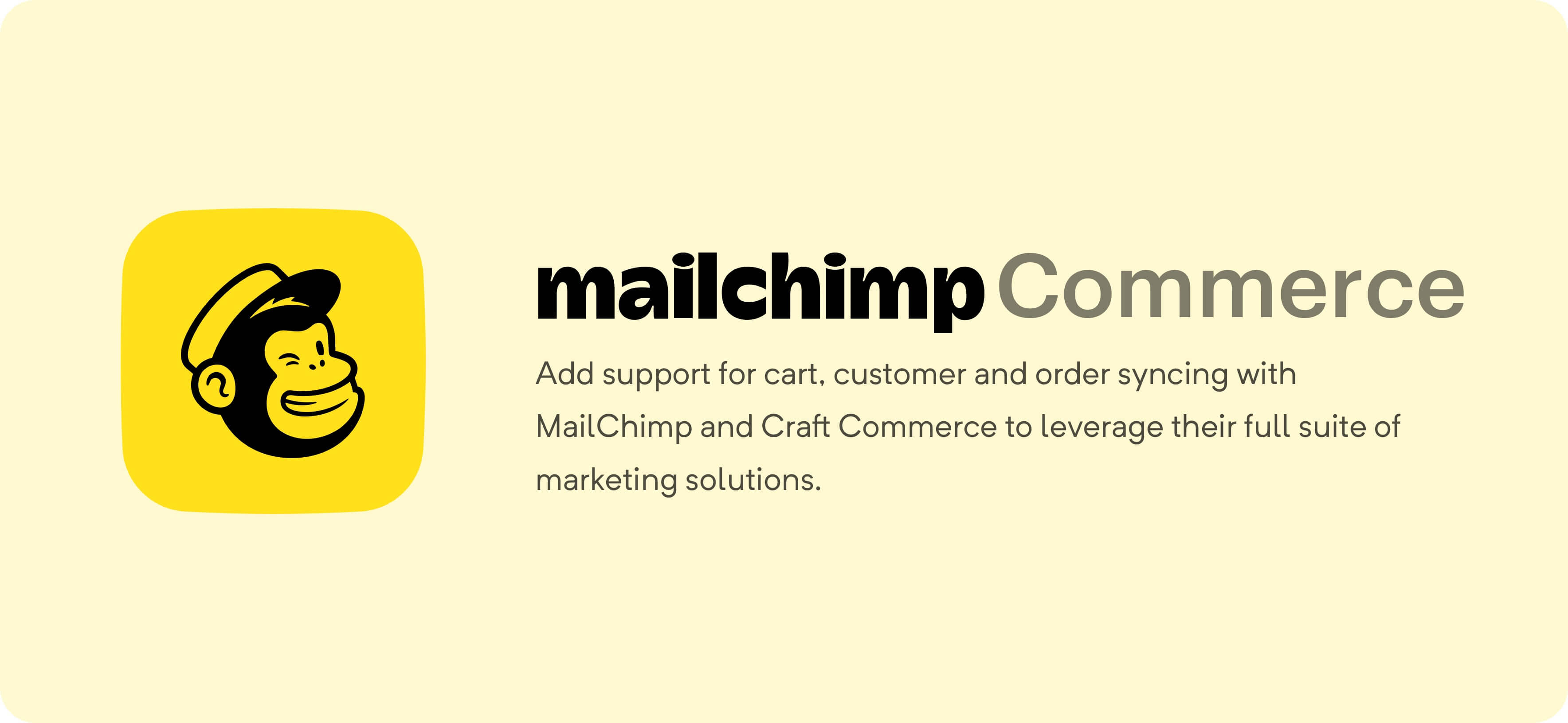 Mailchimp for Craft Commerce
