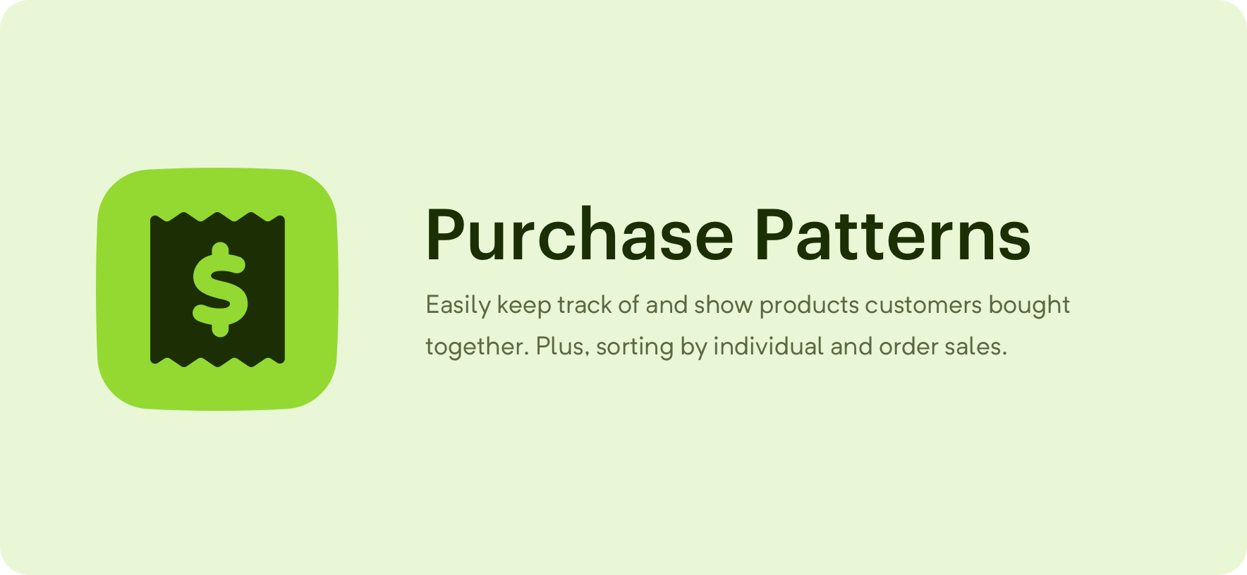 Purchase Patterns