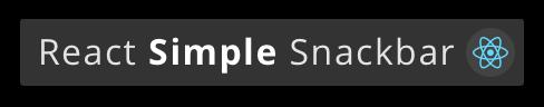 React Simple Snackbar Logo