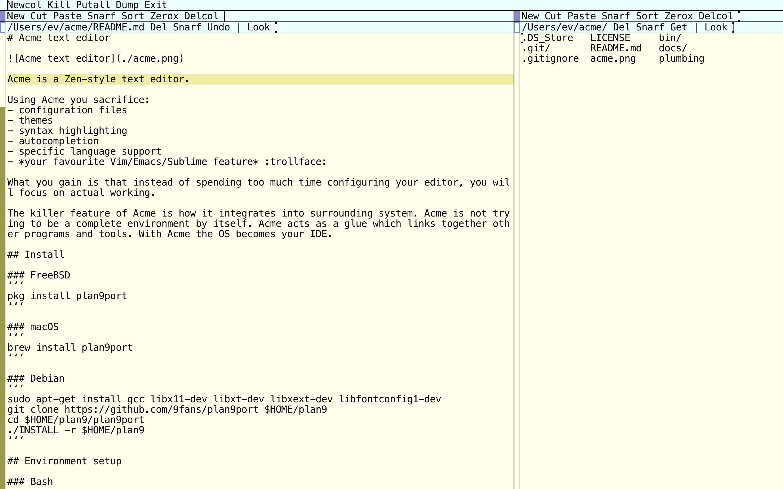 Acme text editor