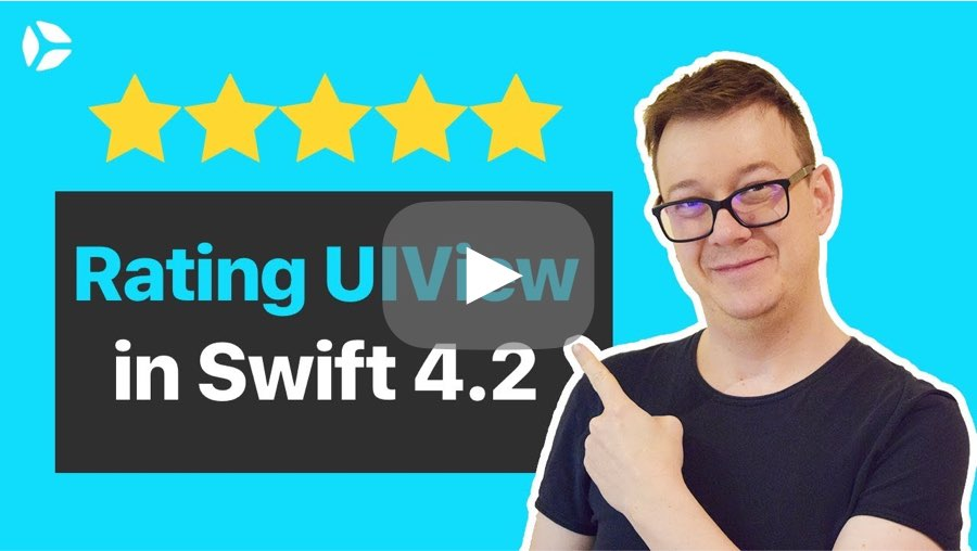 Cosmos rating video tutorial for Swift 4.2 (Xcode10)