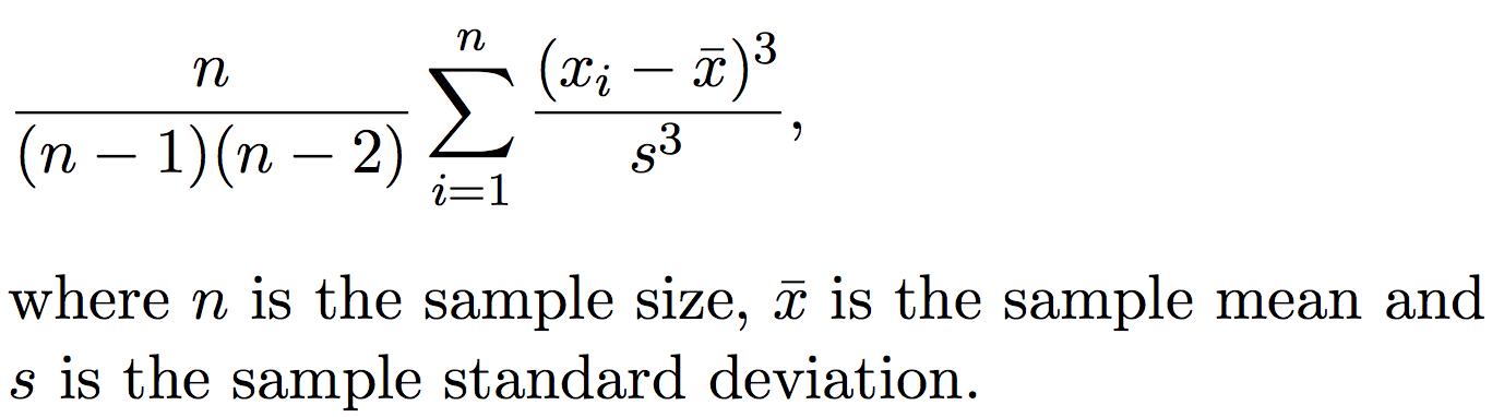 Skewness formula