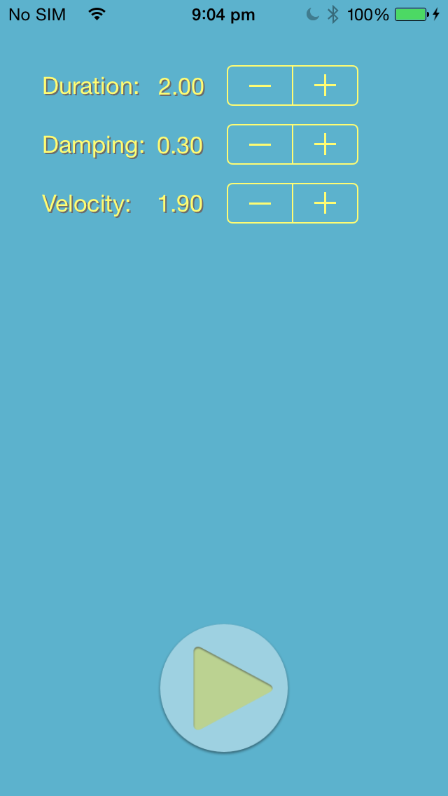GitHub - evgenyneu/bubble-button-animation-ios-swift: Demo iOS app