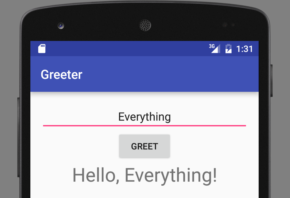 Greeter android app