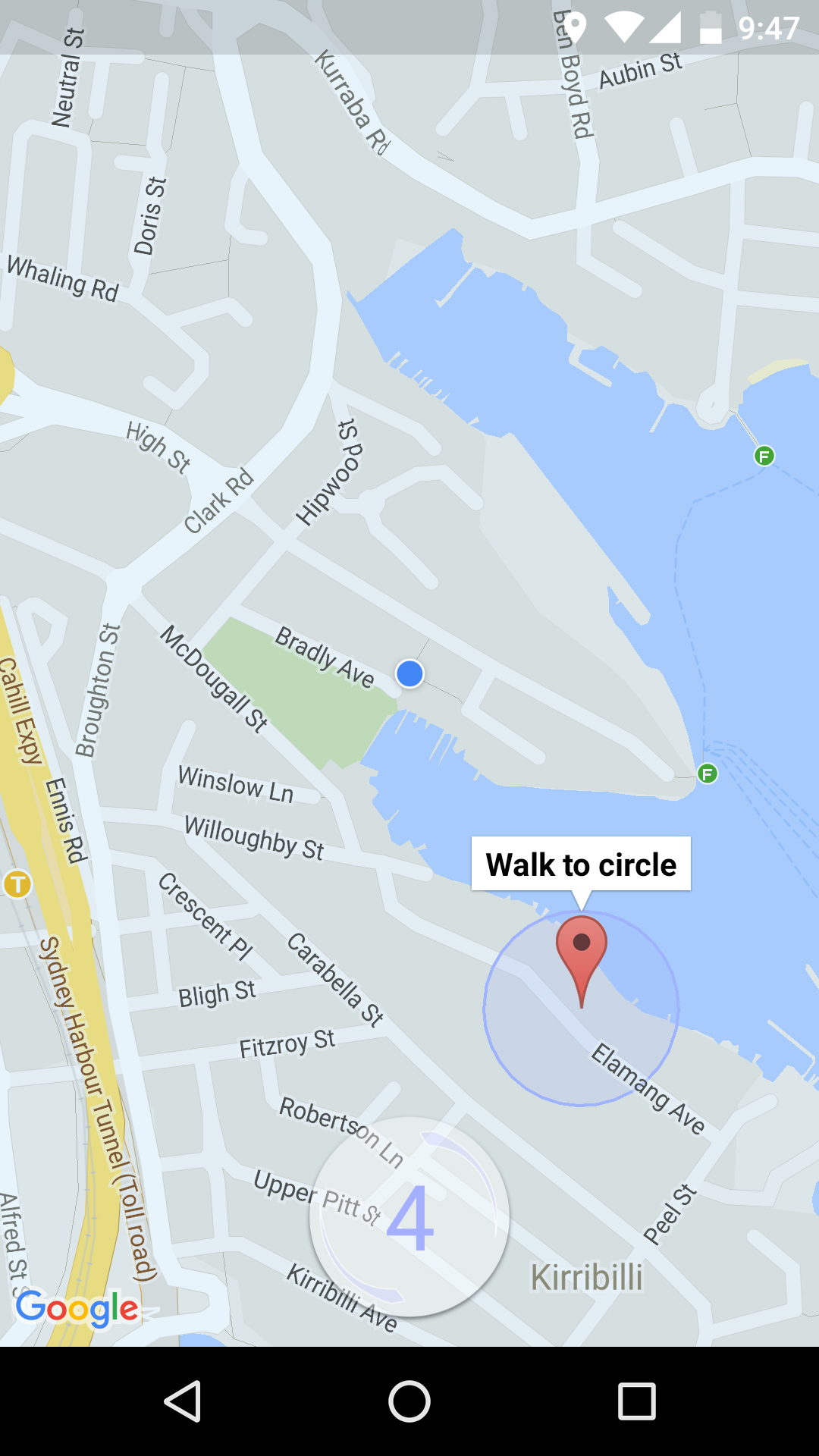 Walk to Circle for Android  screenshot