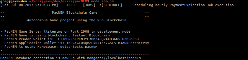 Started PacNEM Backend