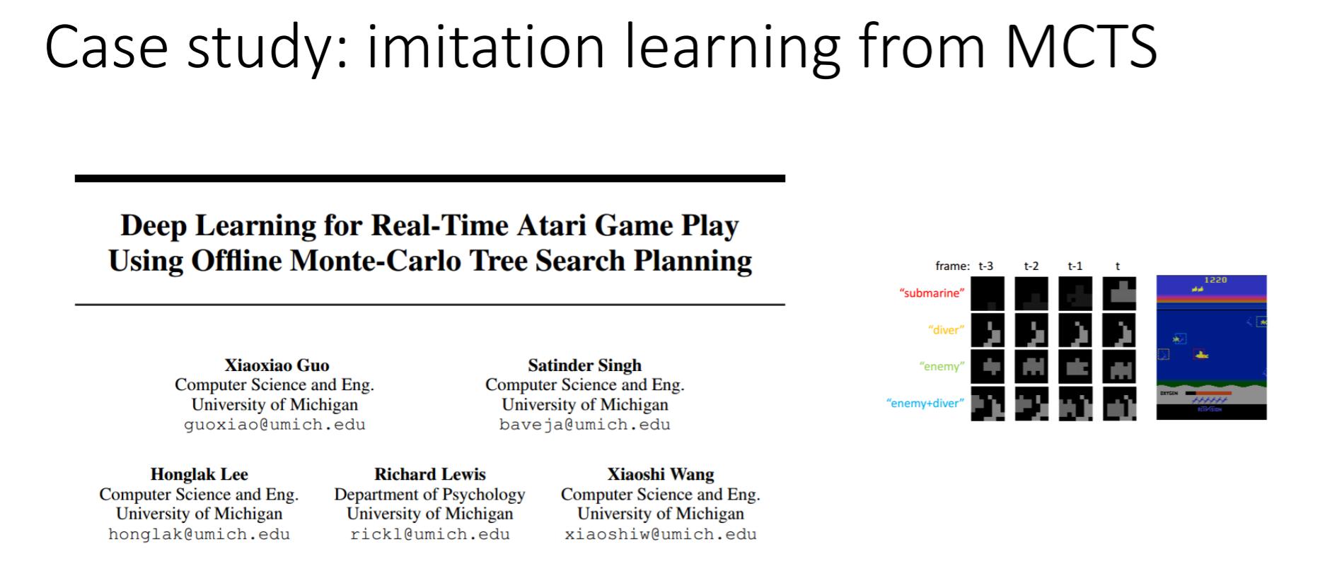 利用蒙特卡洛树搜索算法进行模仿学习