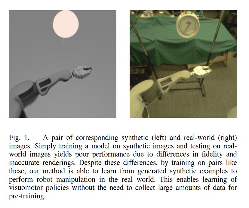 虚拟环境以及现实环境收集到的图像对比