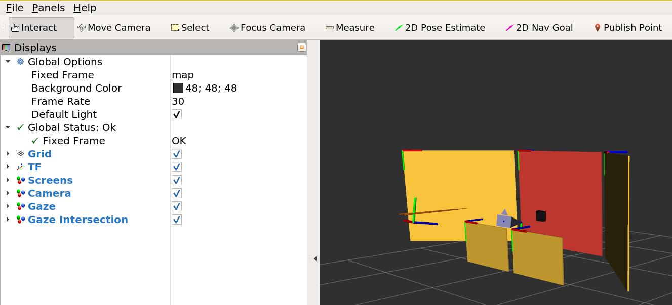 GazeSense RViz visualization
