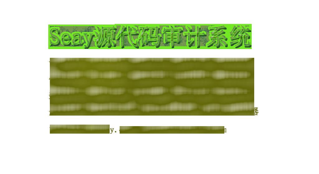 Seay源代码审计系统