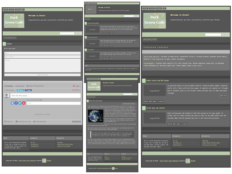 Captura de tela do Dark Green Code Theme