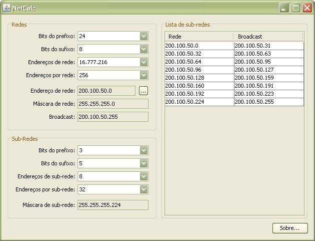 NetCalc Screenshot