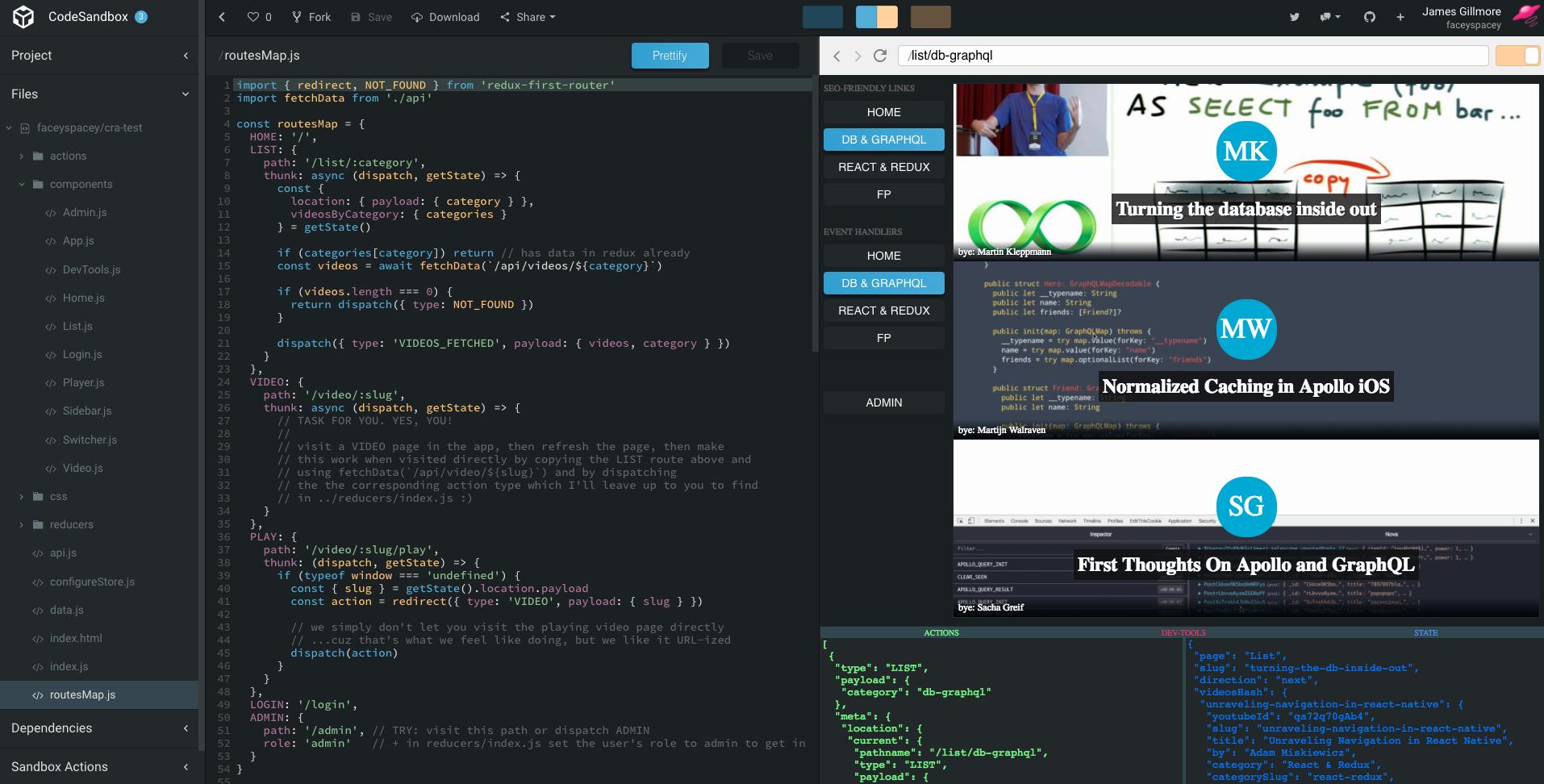 redux-first-router-demo screenshot