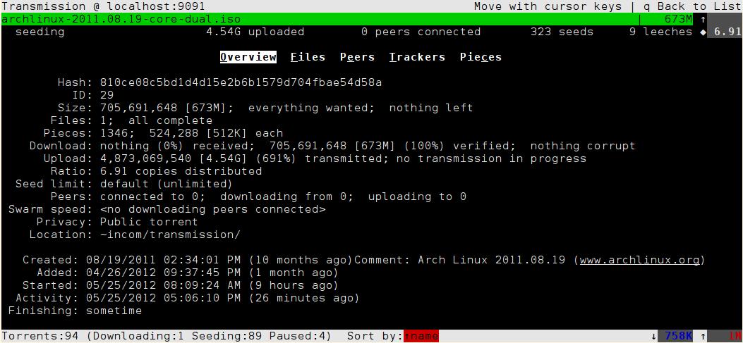 Info window, v1.3
