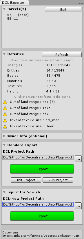 Decentraland Unity Plugin - UnityList