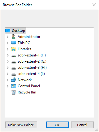 Choose Report Folder
