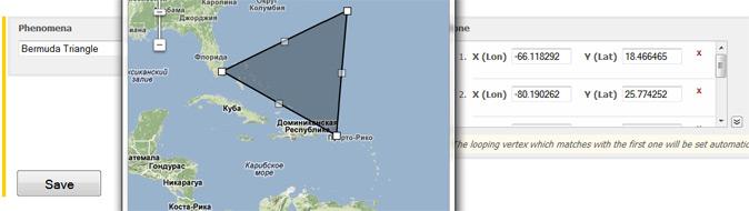 Illustration of geo polygon interface