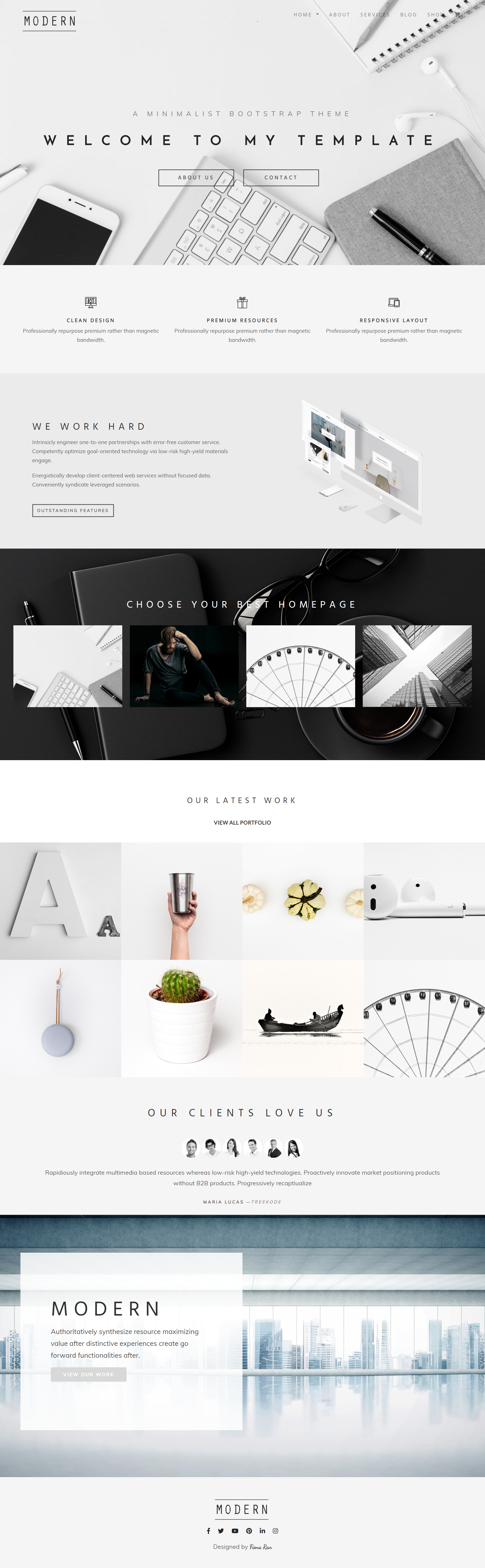 50 Best Free Bootstrap 4 Templates 2019 CSS Author