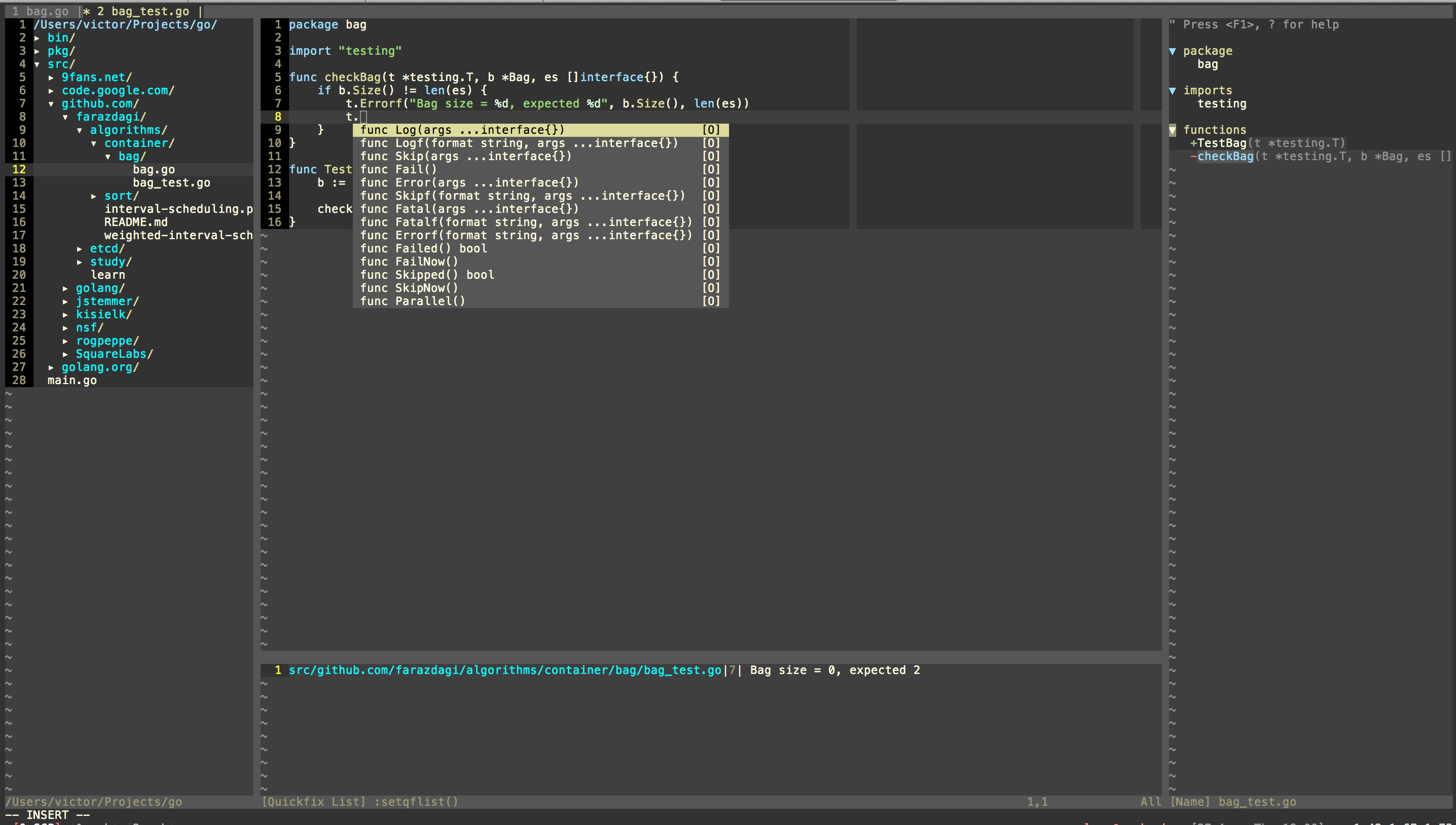 VIM GO Screenshot