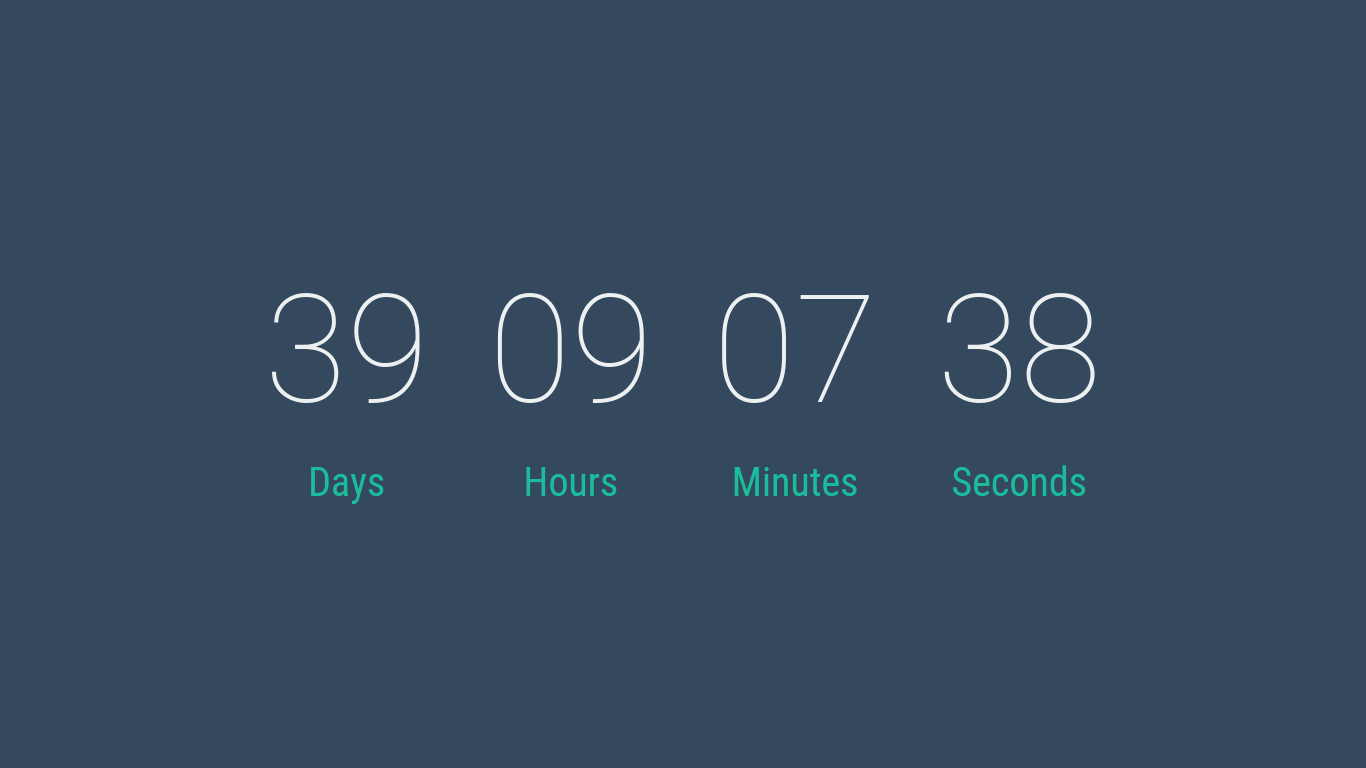 Countdown Timer made using Vue.js