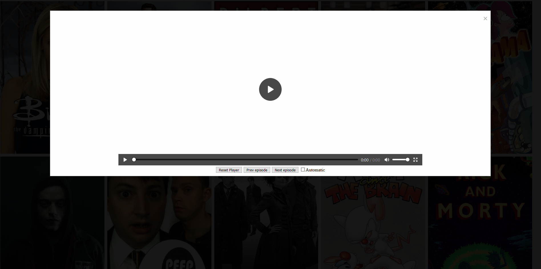 TV show episode player