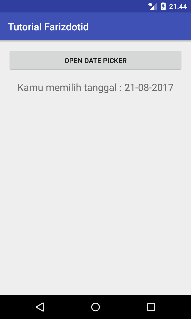 Cara Membuat Date Picker di Android